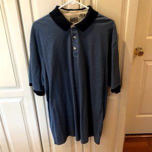Vintage LL Bean Blue Polo Men's XL Tall